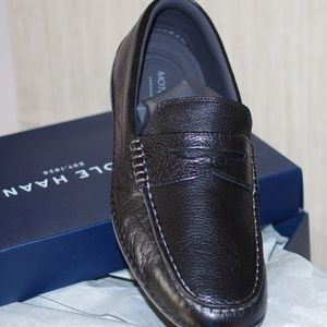 Cole Haan Black MOTOGRAND  Penny Loafer Size 8W